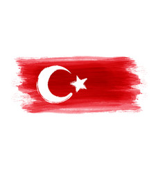Abstract grunge turkey flag vector