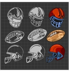 American football - elements for emblem vector image