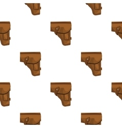 Army handgun holster icon in cartoon style vector image vector image