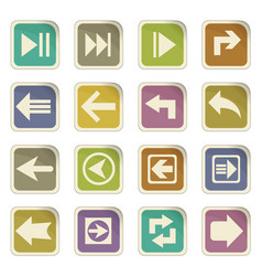 Arrow icon set vector