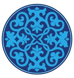 Blue oriental ottoman design twenty three vector