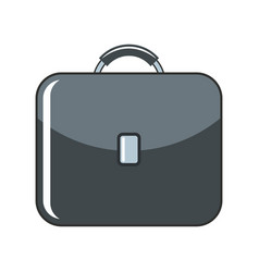 Briefcase cartoon icon isolated on a white vector
