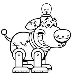 Cartoon mechanical dog vector image vector image
