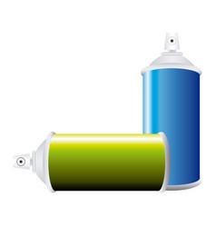colorful set aerosol spray bottle vector image vector image