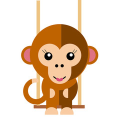 Female monkey vector