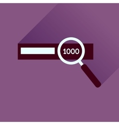 Flat icon with long shadow find money vector