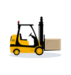 Forklift truck isolated on white background vector