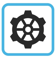 Gear Icon In a Frame vector image vector image