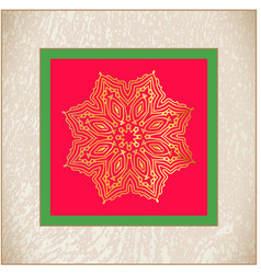 golden star vintage christmas star vector image