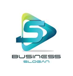 letter s media logo vector image