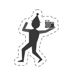 Man take a picture icon design vector