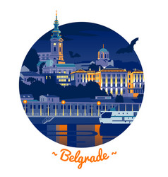 night belgrade vector image vector image