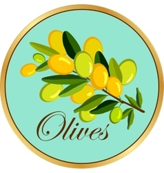 Olive branch badge vector