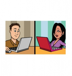online dating vector image vector image