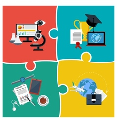 Online education science and business vector