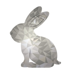 Polygonal rabbit animal design vector