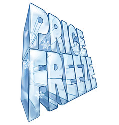 Price freeze sale vector