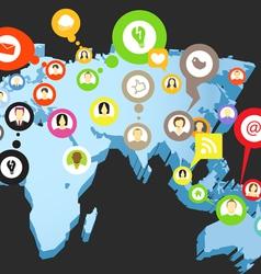 Social network scheme vector image