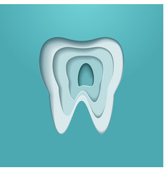 tooth logo poster modern styled vector image