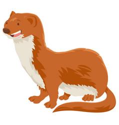 Weasel cartoon animal character vector