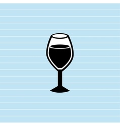 wine cup design vector image vector image