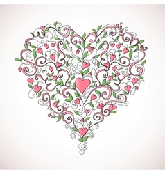 Heart-shaped ornament vector