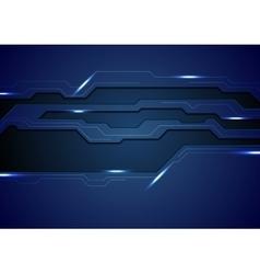 Abstract dark blue concept tech background vector