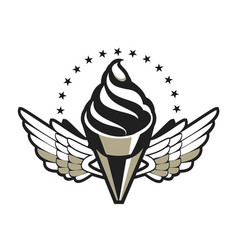 ice cream badge vector image