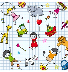 Background children vector