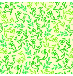 Bright spring flowers seamless pattern vector