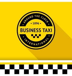 Taxi badge 15 vector