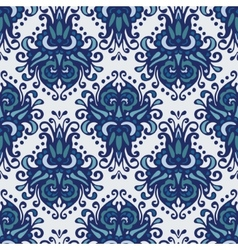 Damask flower seamless pattern vector