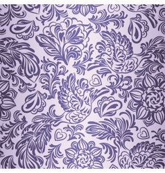 Baroque pattern with birds and flowers purple vector