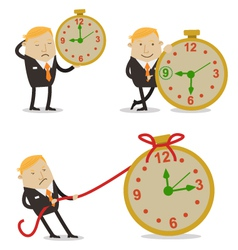 Businessman on time vector