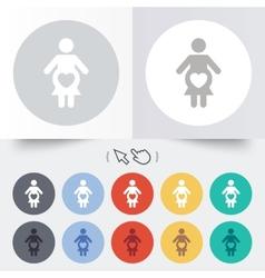 Pregnant sign icon pregnancy symbol vector