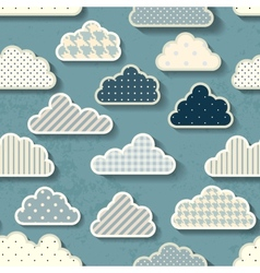 Cartoon sky with clouds vector