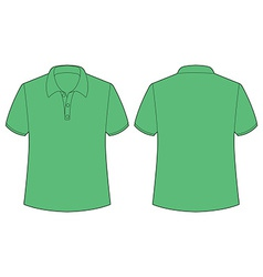 Green tshirt vector