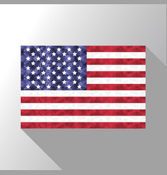 American flag in poly art design vector