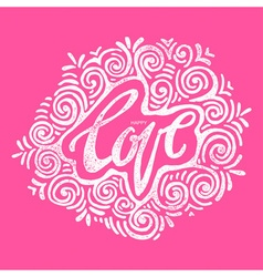 Happy love concept inspirational hand lettering vector