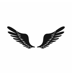 Wings icon in simple style vector