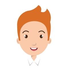 Young boy colorful cartoon design vector
