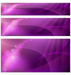 Abstract banner backgrounds vector