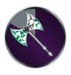 axe in progress frame vector image