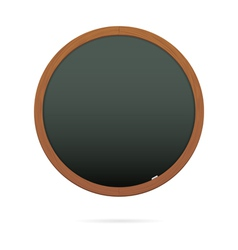 Blackboard in the shape of circle vector image vector image