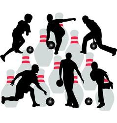 bowling vs vector image