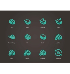 Box icons vector