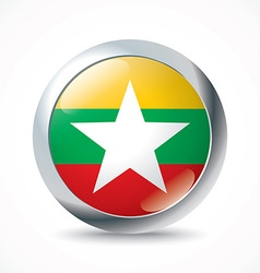 Burma flag button vector image vector image