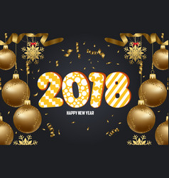 Christmas 2018 background with christmas balls vector