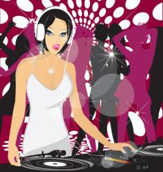 Dj princess vector