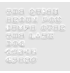 Geometric cutout white font vector